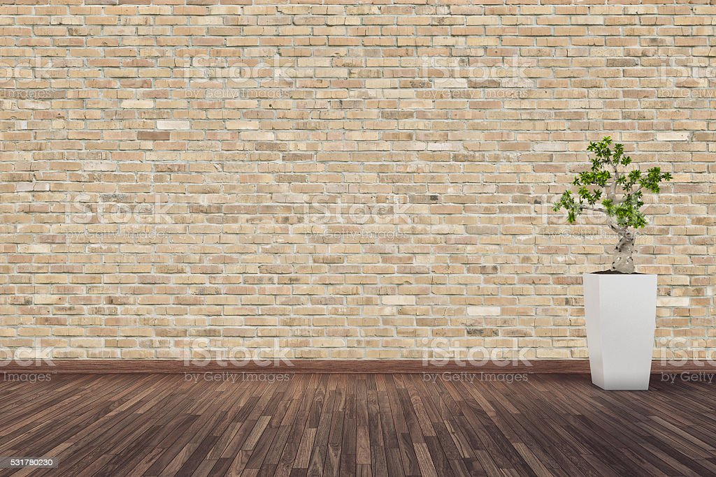 wood floor and wall background. Brick Wall Background On Hardwood Floor Royalty-free Stock Photo Wood And R