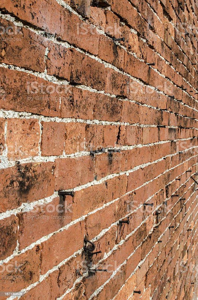 Brick wall background royalty-free stock photo