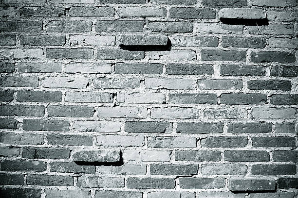 Brick Wall / Black and white stock photo