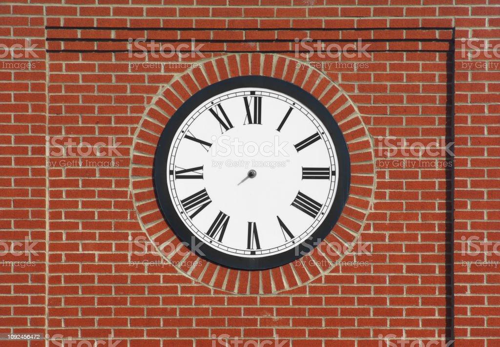 Brick Wall Clock No Needle Stock Photo Download Image Now Istock