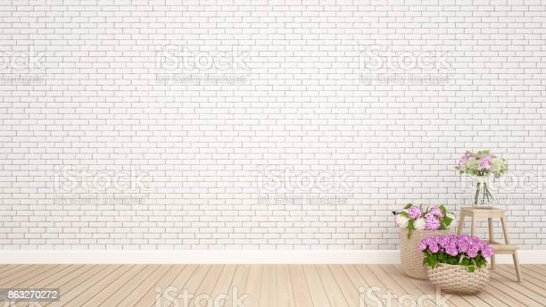 Brick wall decoration and flower in empty roominterior design 3d picture id863270272?b=1&k=6&m=863270272&s=612x612&h=x5kgzdrzdawd5j0lr4xkhvy qn4hsf5dmcekgq ke5u=
