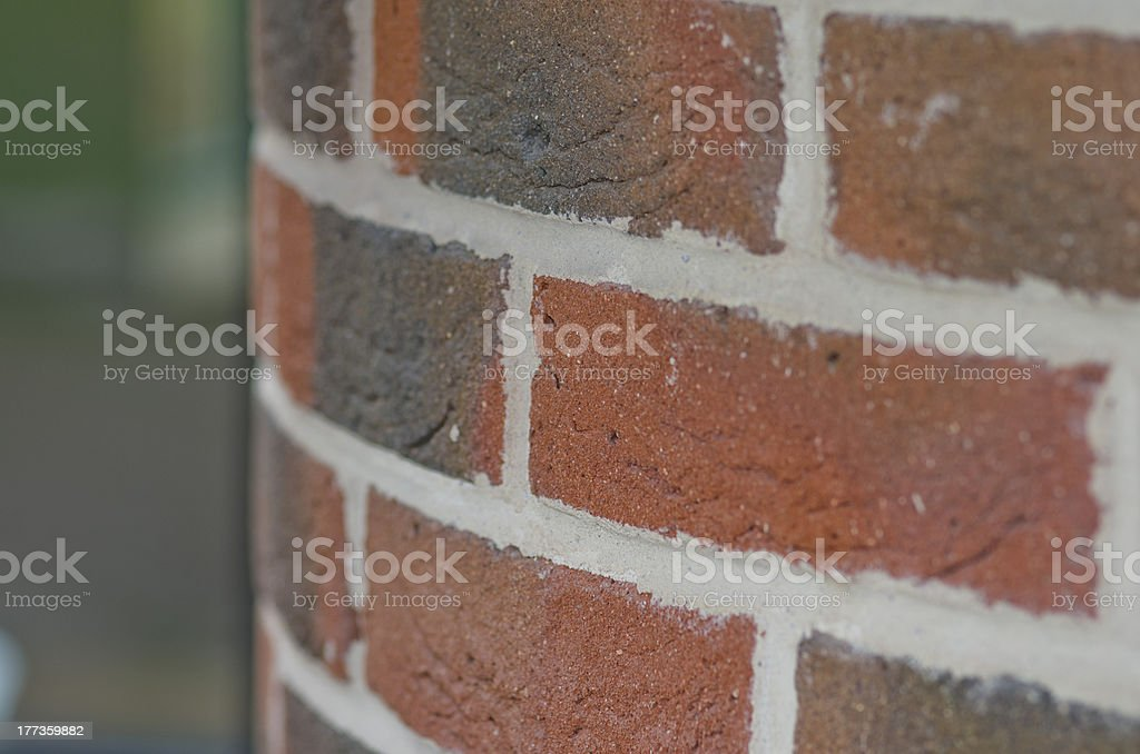 Brick wall detail and new housing development stock photo