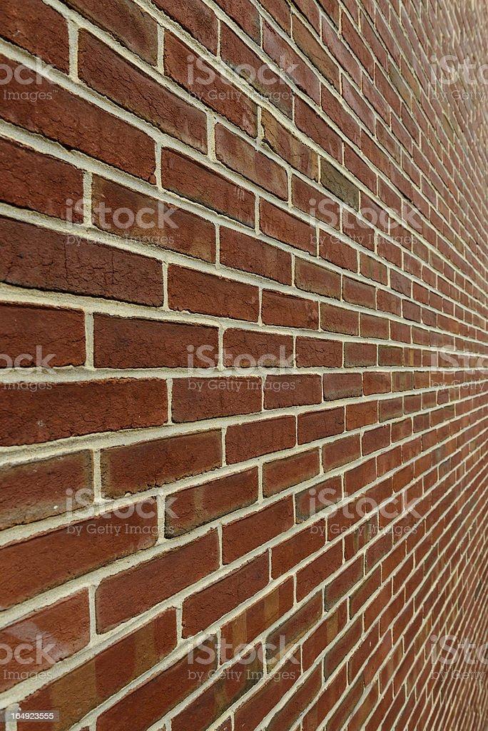 Brick Wall, Diminishing Perspective stock photo