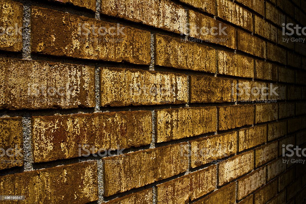 Brick Wall Fade to Black stock photo