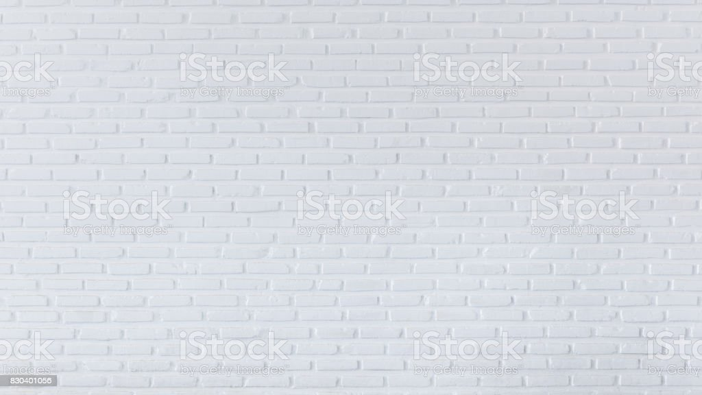 Brick wall for background and textured, White wall background stock photo