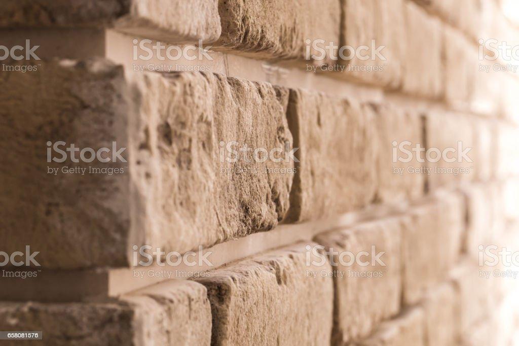 brick wall in diagonal royalty-free stock photo
