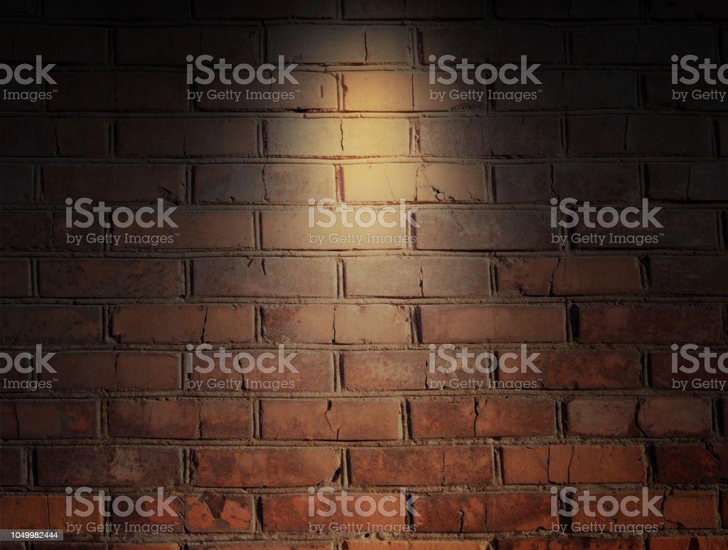 空の部屋でレンガの壁レンガ壁の背景壁紙 からっぽのストックフォト