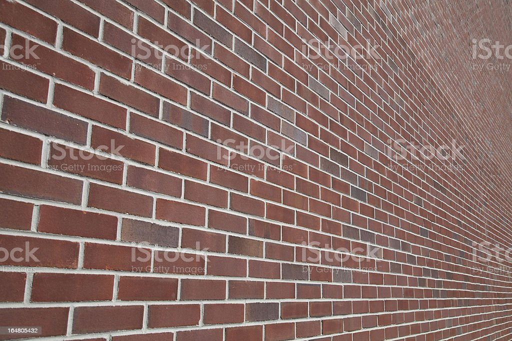 Brick Wall in Perspective royalty-free stock photo