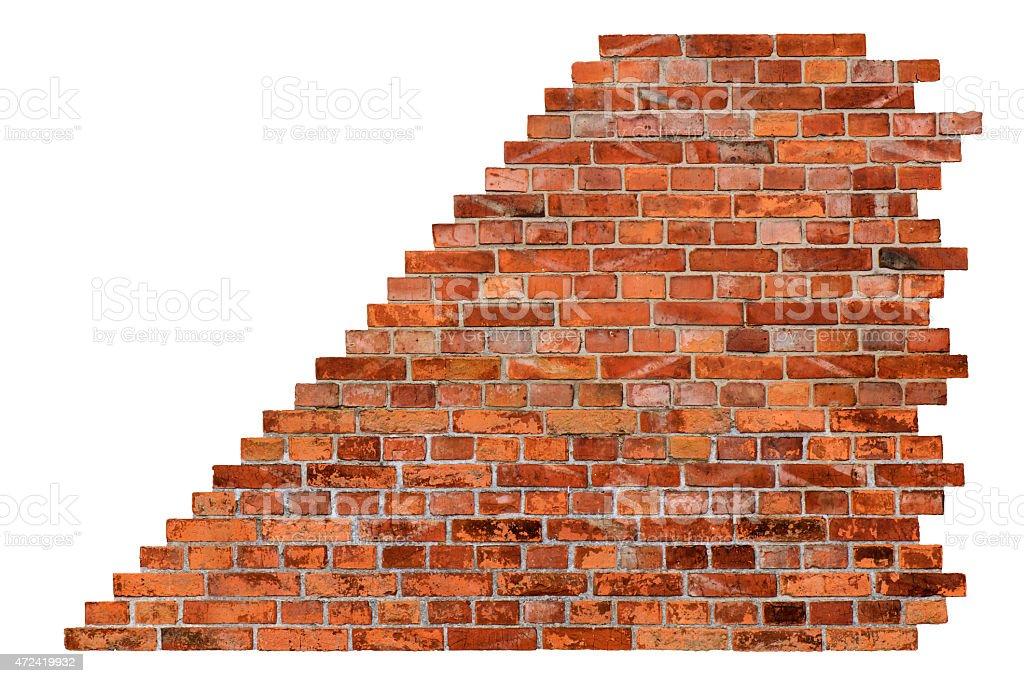 Brick wall - isolated stock photo