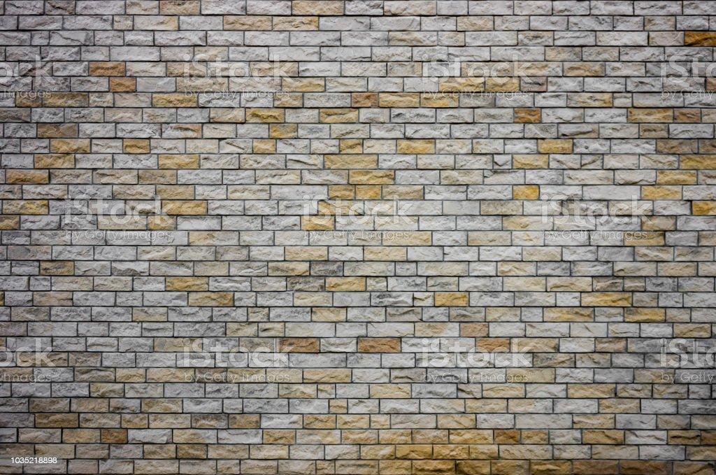 Ziegelwand aus natürlichen Stein Ziegel – Foto