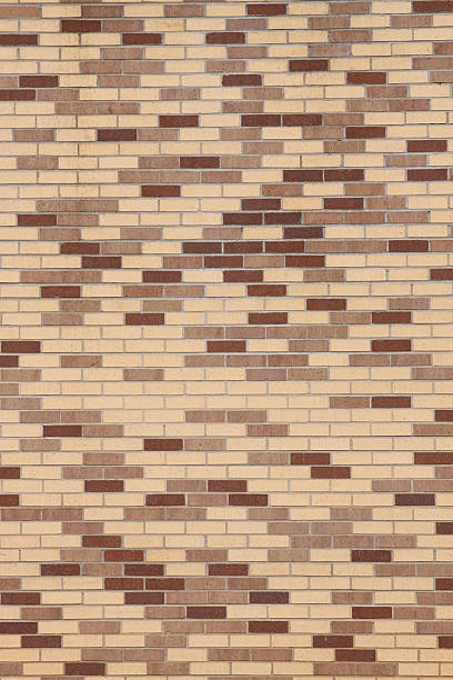 Brick Wall - Mid-Century stock photo