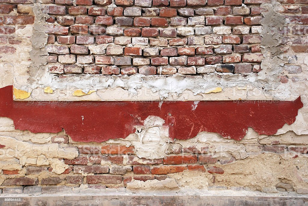 brick wall of an old house royalty-free stock photo
