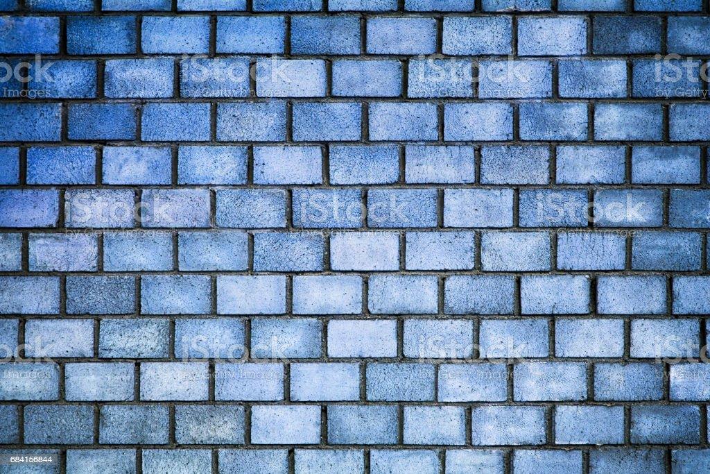 青い色、石表面の質感のレンガの壁 ロイヤリティフリーストックフォト