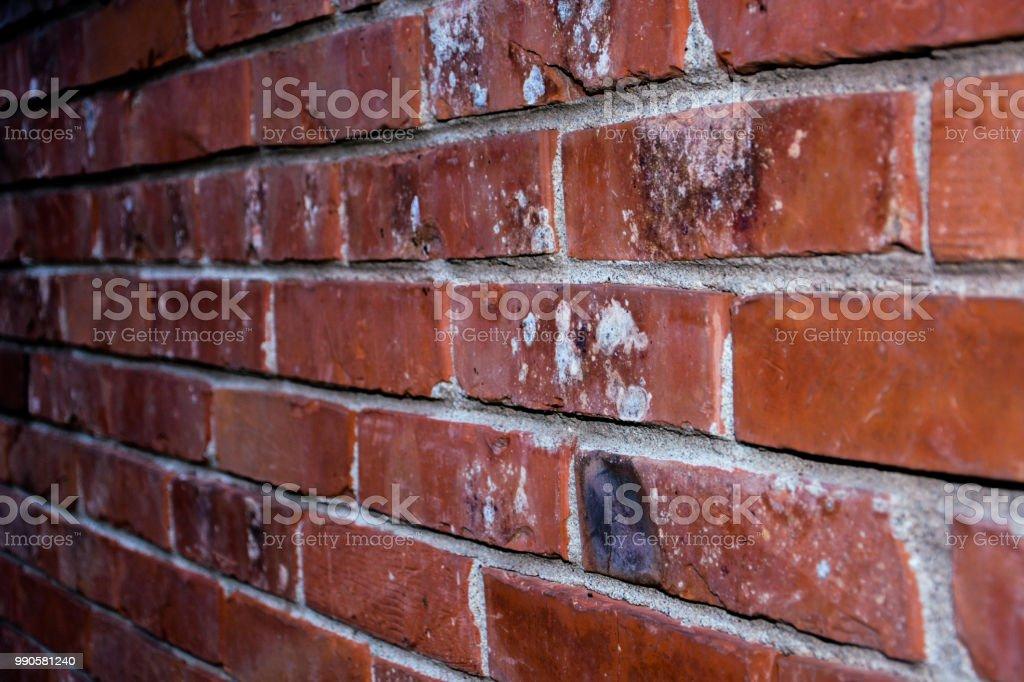 Brick Wall Of Red Color Horizontal Of Masonry Old Red Brick Texture