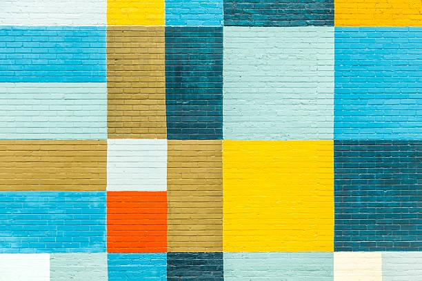 ściany malowane w kolorach tęczy - jaskrawy kolor zdjęcia i obrazy z banku zdjęć