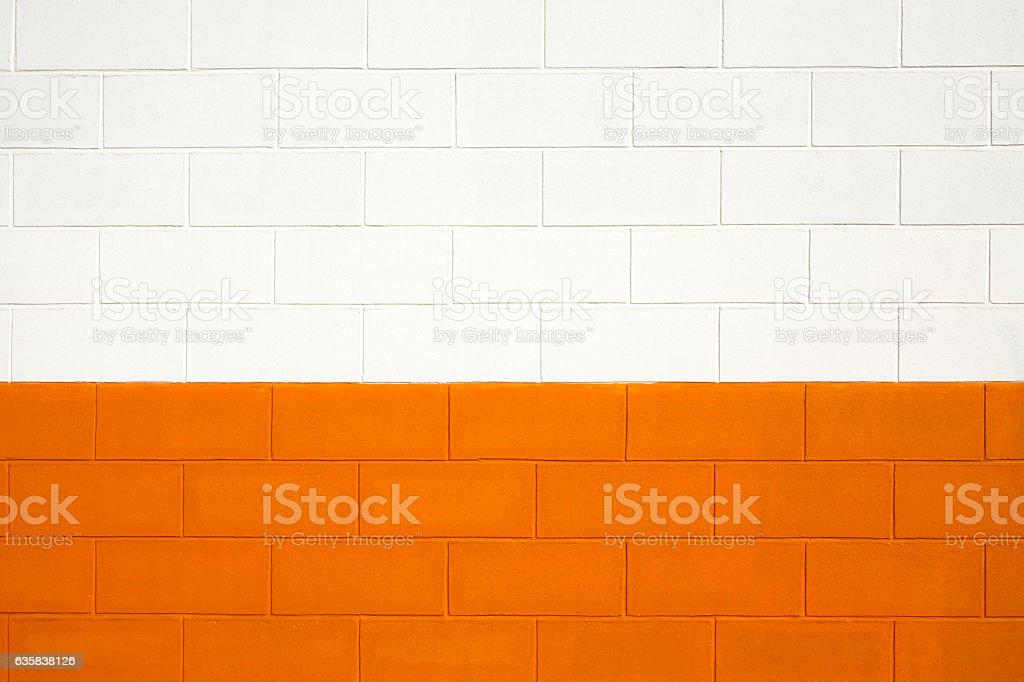 Image of: Brick Wall Painted White And Orange Background Full Frame Stock Photo Download Image Now Istock