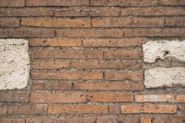 brick wall pattern - roma foto e immagini stock