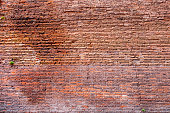 Brick wall pattern, old grunge wall texture background