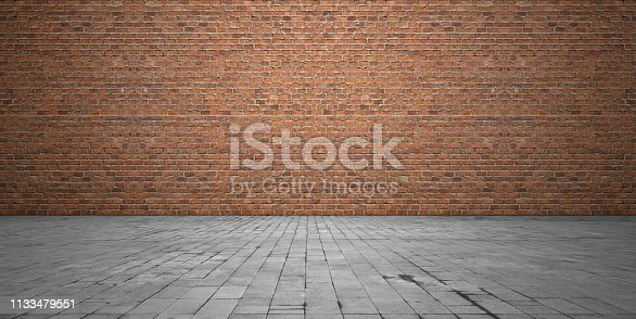 Brick wall stone flooring