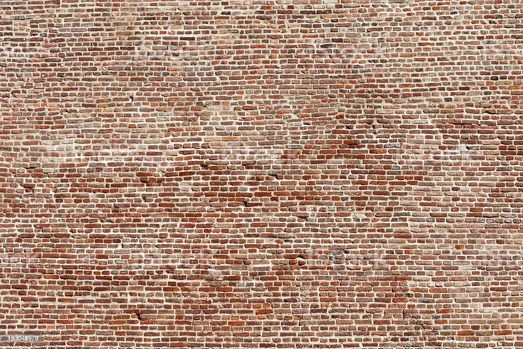 XXXL Brick Wall royalty-free stock photo