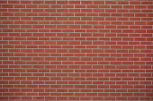 Red brick wall background with copy space.