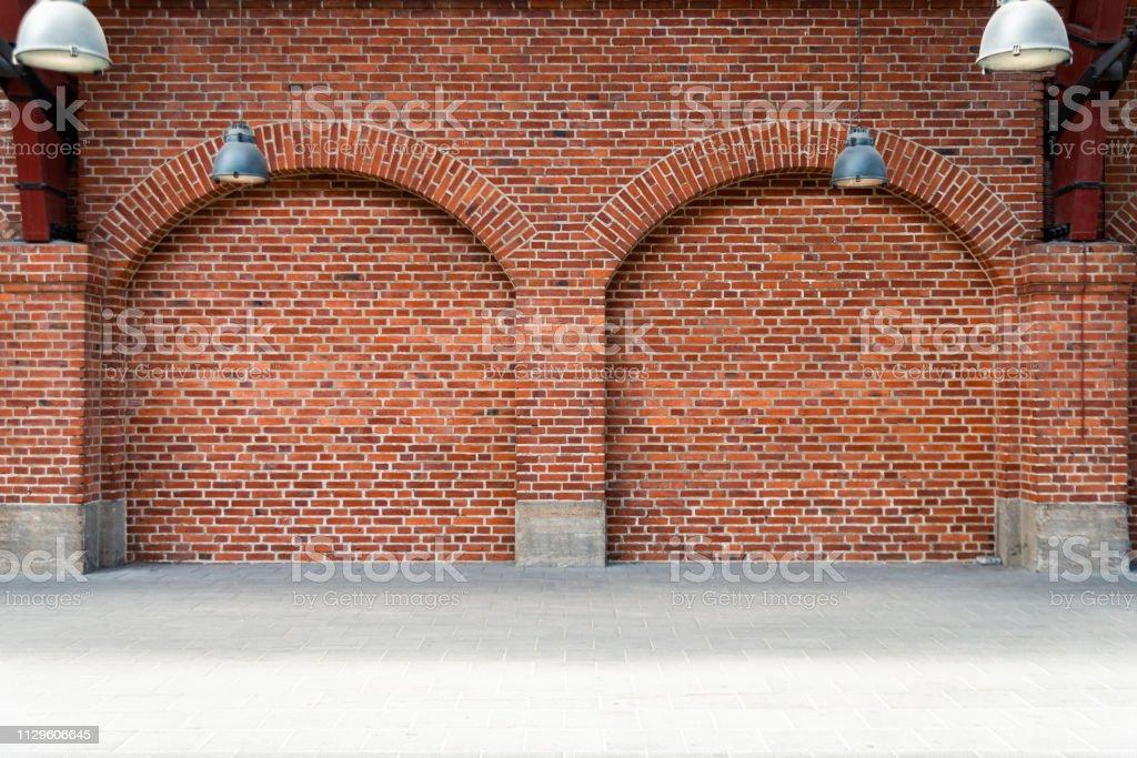 Brick Wall Portal bildbanksfoto