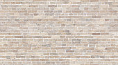 istock Brick wall seamless texture. Beige stone pattern background 1224390484