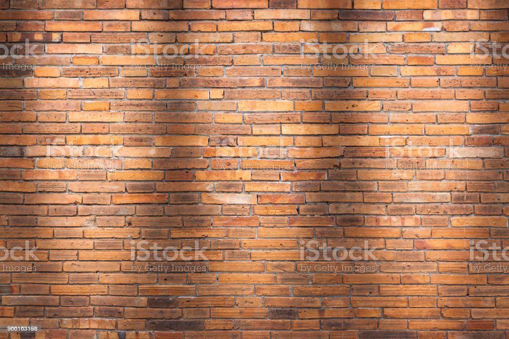 Brick wall texture or brick wall background. brick wall for interior exterior decoration and industrial construction concept design. brick wall motifs that occurs natural. - Foto stock royalty-free di Antico - Vecchio stile