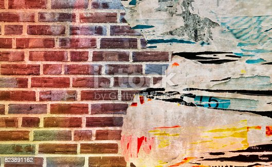 istock Brick wall texture, urban pattern as background. 823891162