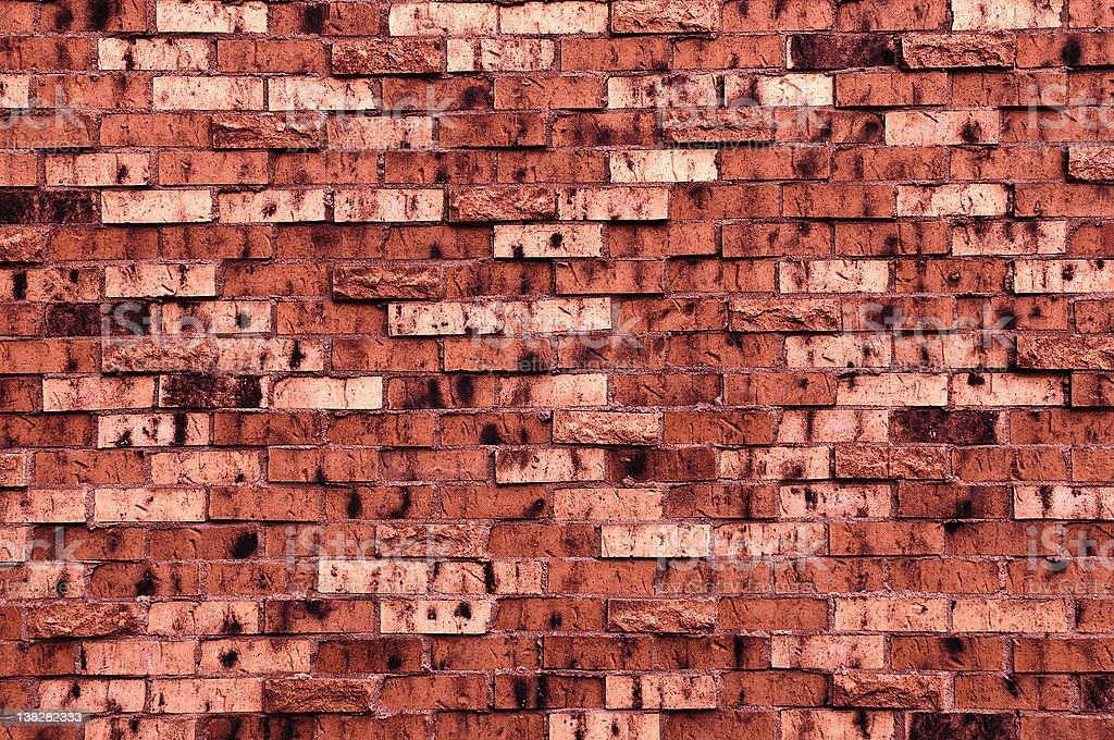 Brick Wall With a Dark Red Tint royalty-free stock photo