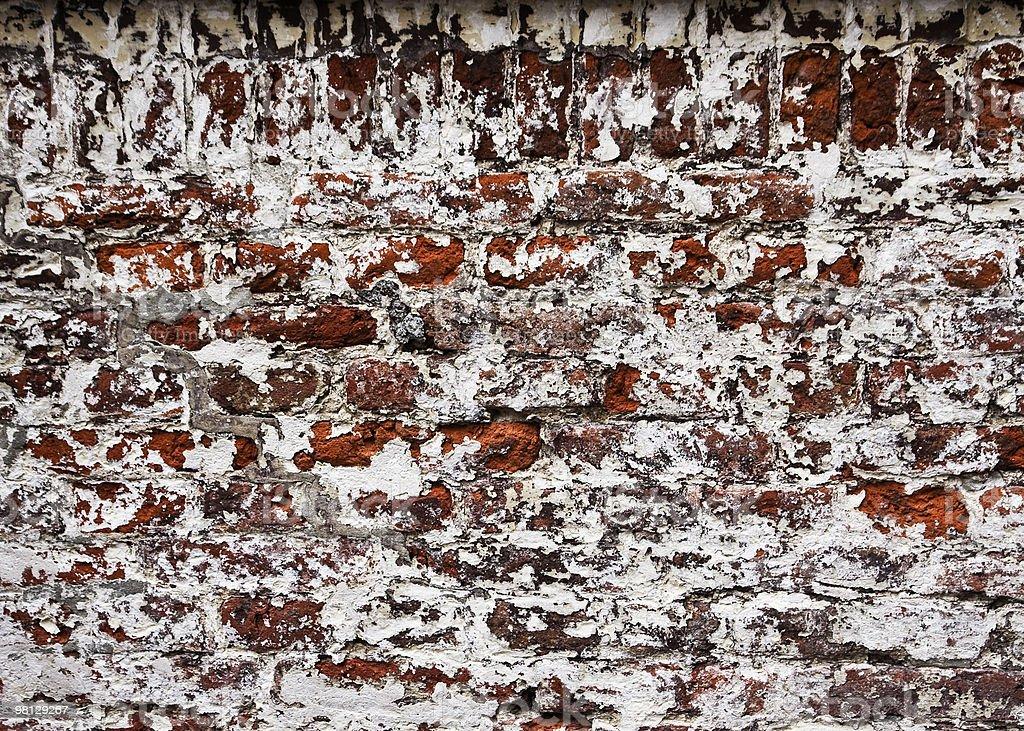 벽돌전 벽에 문자 royalty-free 스톡 사진