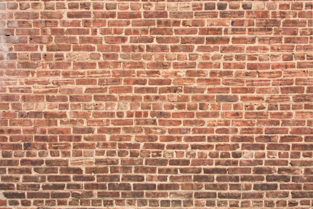 Brick Wall with Dark Gradient at Bottom stock photo