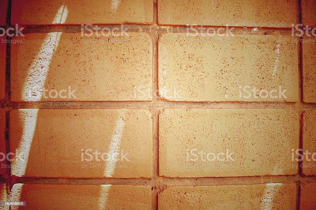 Brick wall with orange of background. royalty-free stock photo