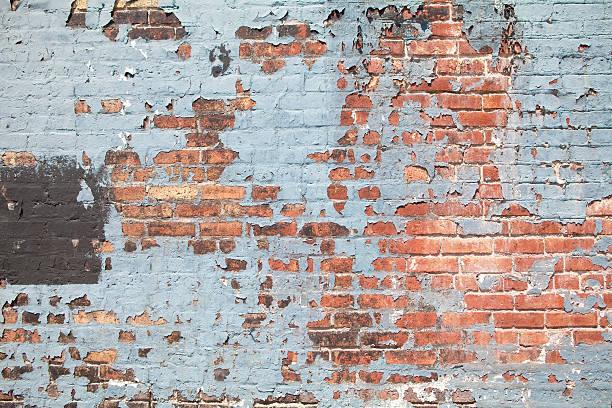 Brick Wall with Peeling Paint