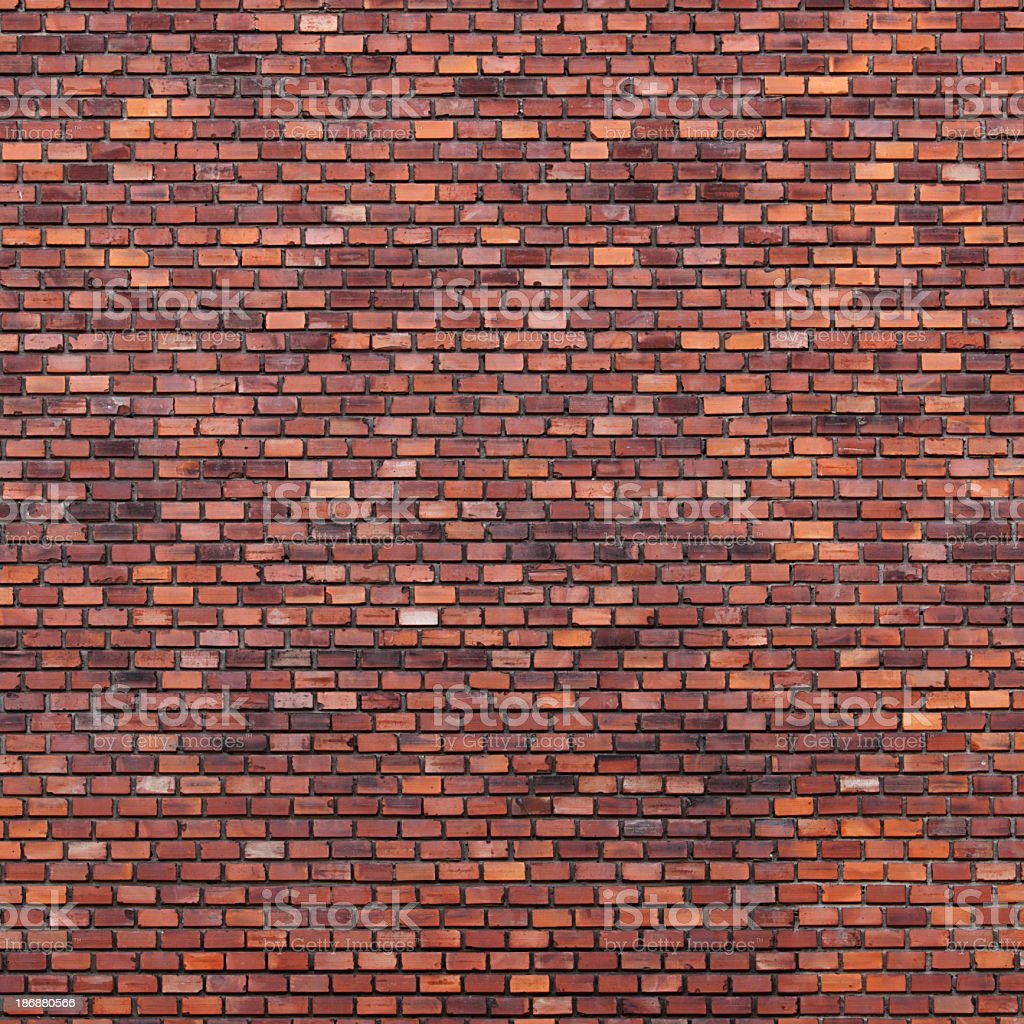 Brick wall with various shades of brown royalty-free stock photo