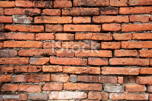 istock brick walls of the old 576920392
