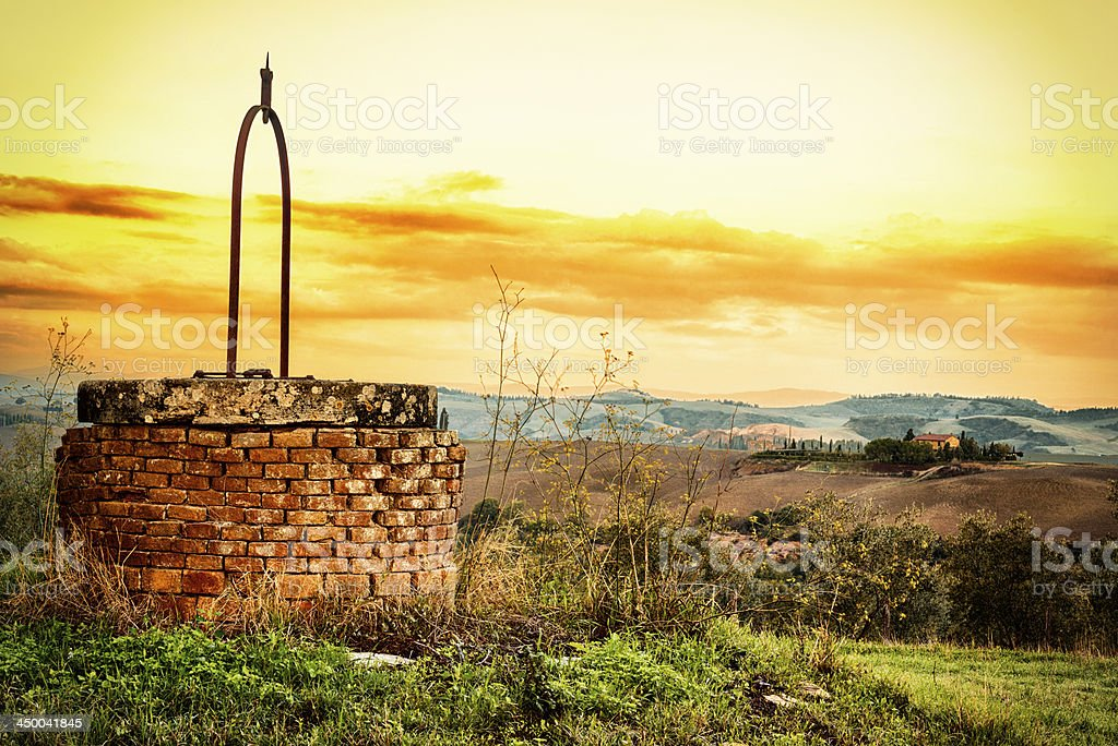 Brick Water Well royalty-free stock photo