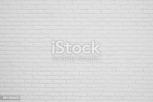 istock brick white blank wall 491293520