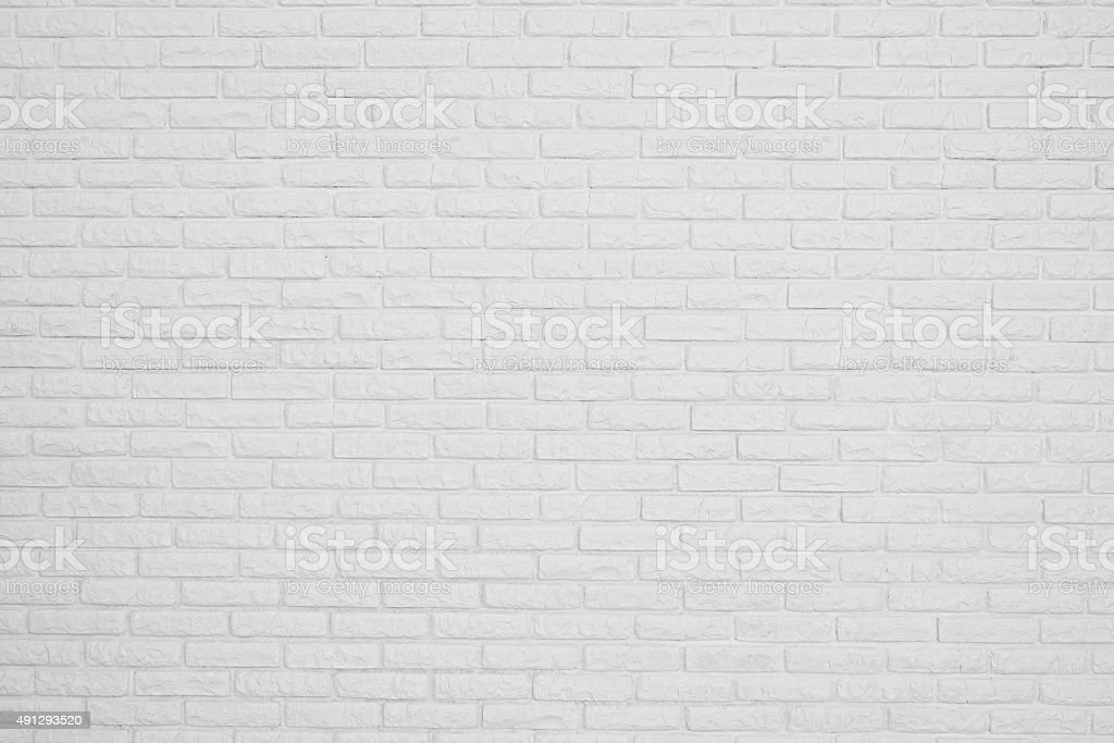 brick white blank wall stock photo
