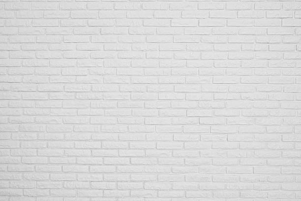 brick white blank wall stock photo