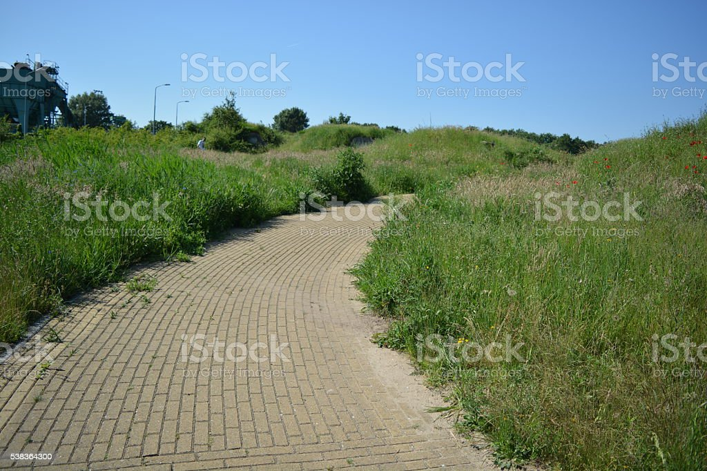 Bricked path stock photo