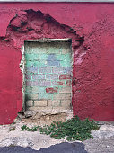 Bricked up Doorway to an Abandoned Building