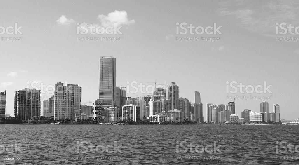 Brickell Black and White royalty-free stock photo