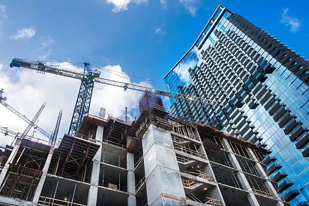 Brickell Center under Construction stock photo