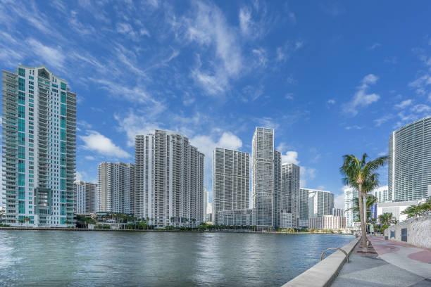 Brickell in downtown Miami stock photo