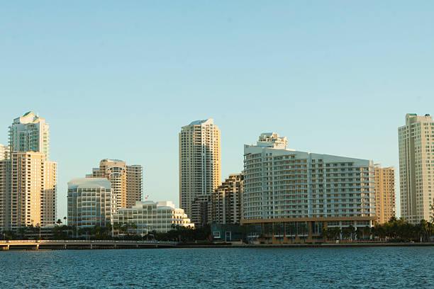 Brickell Key, Miami stock photo