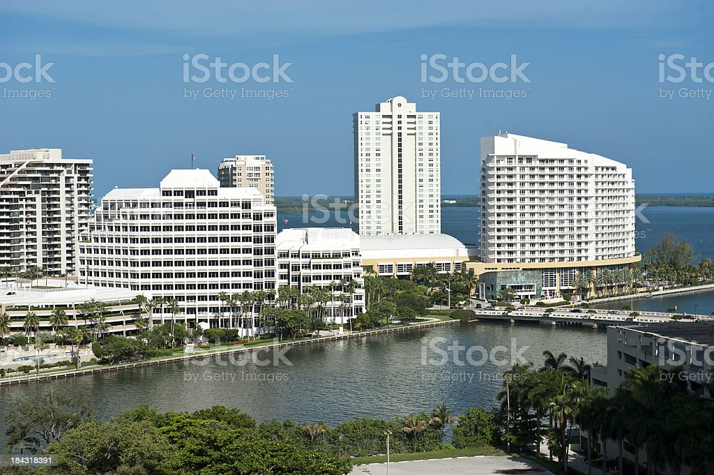 Brickell key (Miami) royalty-free stock photo