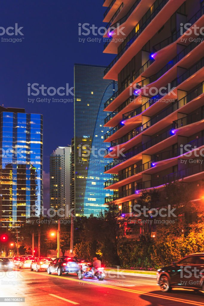 Brickell Miami stock photo