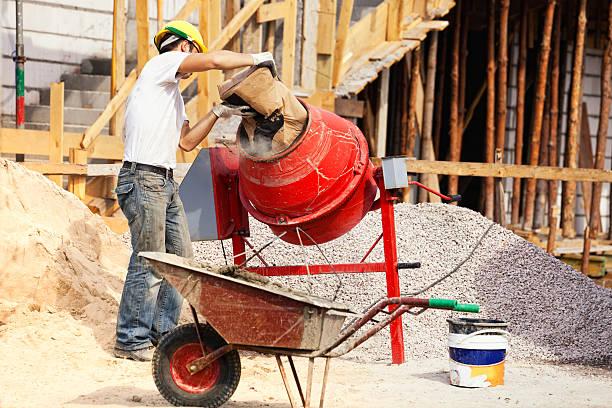 Maurer und Beton Mischpult – Foto