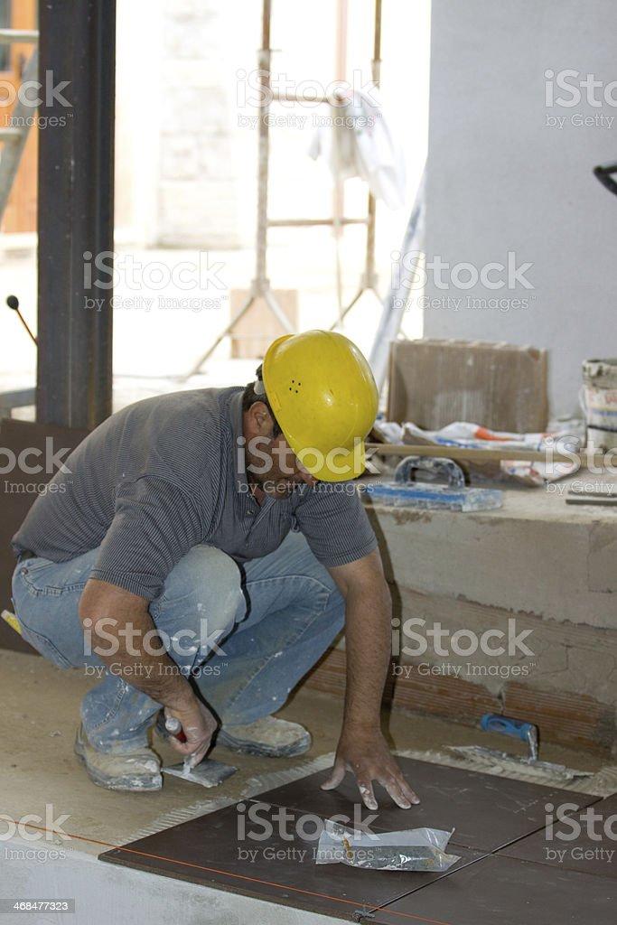 bricklayer royalty-free stock photo